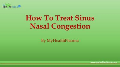 Treating Nasal Congestion